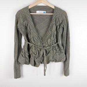 Sparrow| Merino Wool Cropped Cardigan (A909)